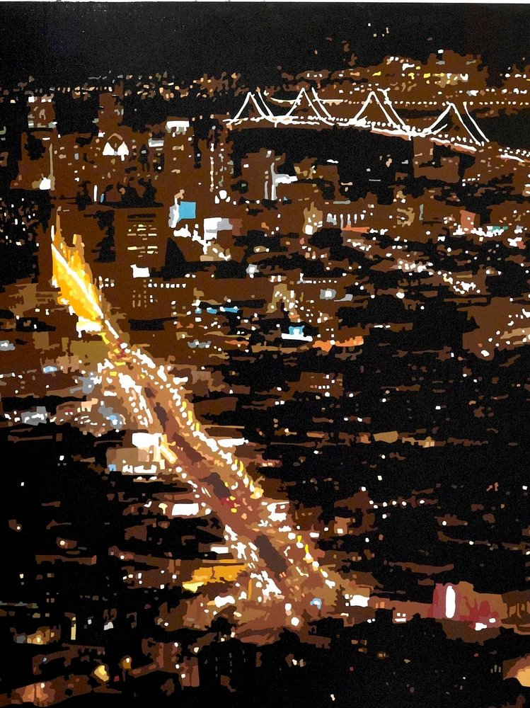 Bay Bridge at Night, San Francisco