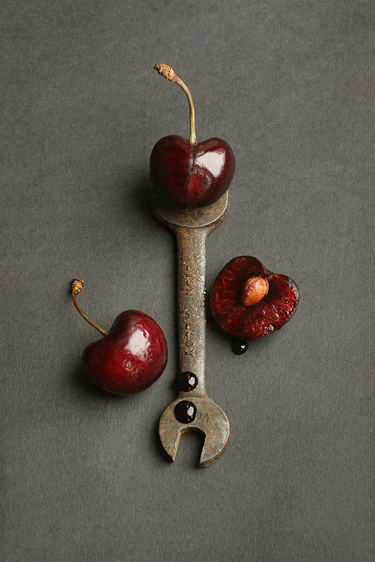 Cherries and Vintage Spanner