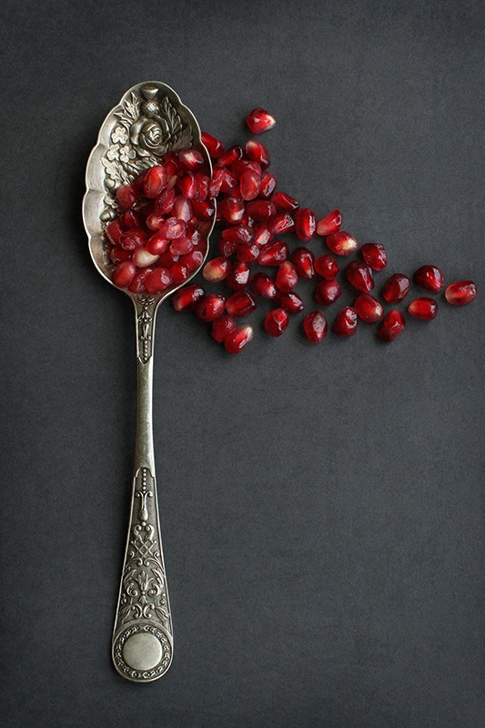 Pomegranate and Antique Spoon