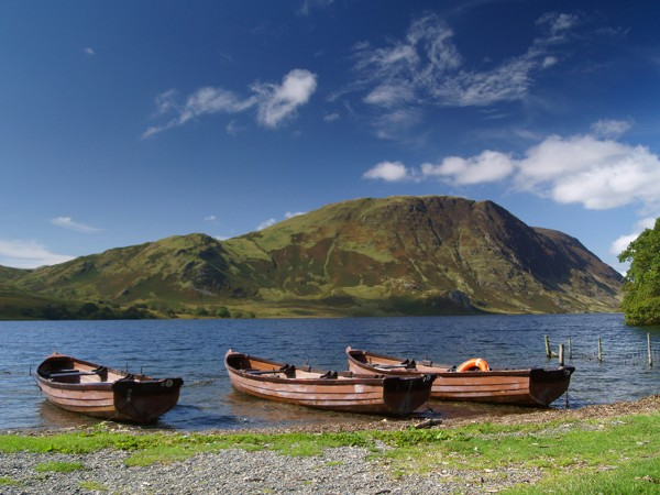Crummock Water with Boats